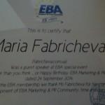 special guest speaker. EBA-2014